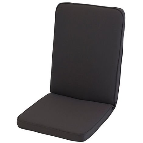"main image of ""Charcoal Grey Low Recliner Cushion Outdoor Garden Furniture Cushion"""