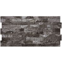 Charcoal Split Face Effect Tiles - 600x300x7mm