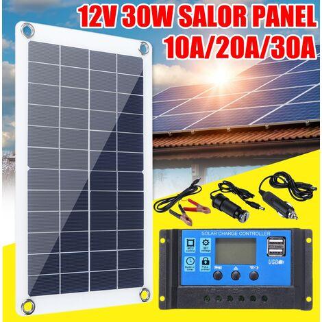 Charge de batterie monocristalline imperméable de panneau solaire USB à double sortie imperméable