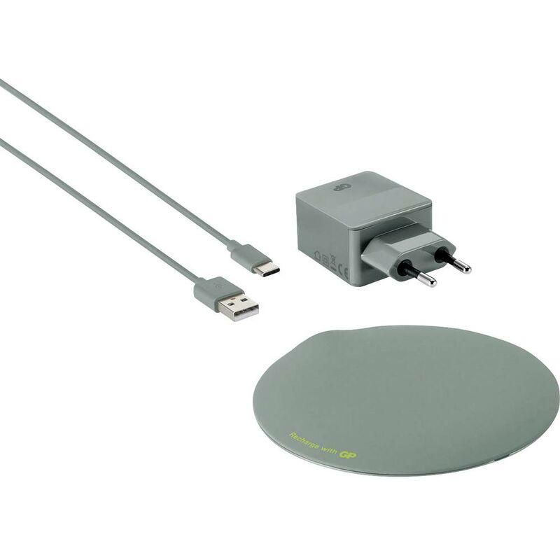 Chargeur à induction GP Batteries QP1A 165QP1AGREY 3000 mA Sorties standard Qi gris foncé 1 pc(s)