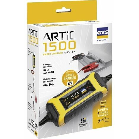 Chargeur automatique 12V batterie GYS Artic 1500