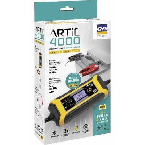 Chargeur automatique 6-12V batterie GYS Artic 4000