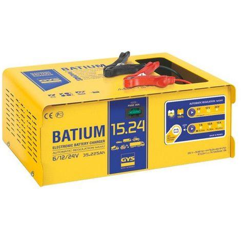 Chargeur automatique GYS BATIUM 15 24 6/12/24v pour batterie de 35-225ah 024526