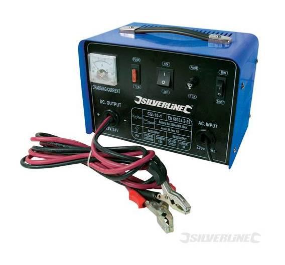 : Silverline 268317 Chargeur de Batterie 1224 V