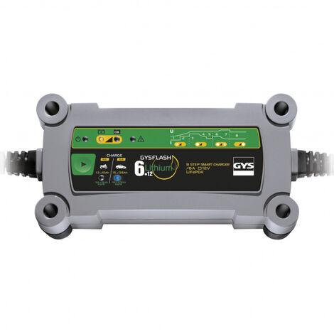 Chargeur batterie LiFePO4 12V 6A de 1.2 à 125Ah GYSFLASH 6.12 Lithium