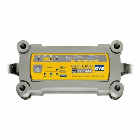 Chargeur batterie Plomb 6/12V 6A GYSFLASH 6 HERITAGE