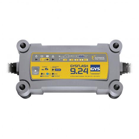 Chargeur batterie Plomb 6V/12V/24V 9A de 18 à 220Ah GYSFLASH 9.24
