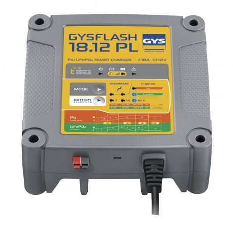 Chargeur batterie Plomb/LiFePO4 12V 18A de 7 à 270Ah GYSFLASH 18.12PL