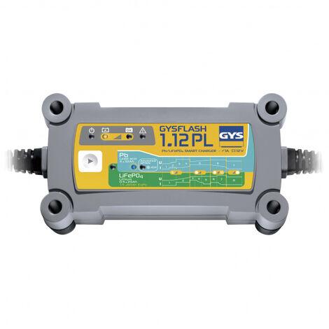 Chargeur batterie Plomb/LiFePO4 12V 1A de 2 à 32Ah GYSFLASH 1.12