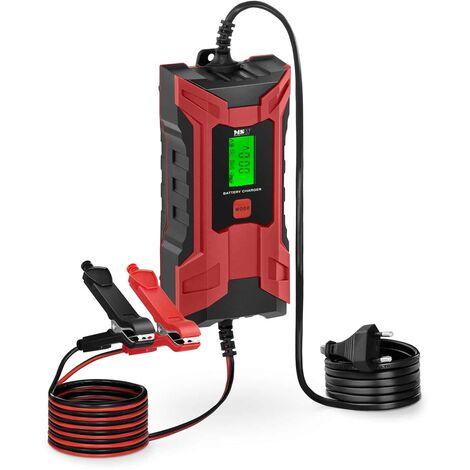 Chargeur Batterie Voiture Auto Moto Chargeur Intelligent 6V/12V 2A/4A 7 Étapes