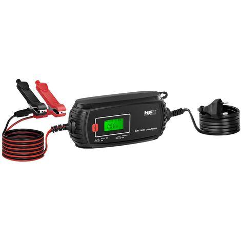 Chargeur Batterie Voiture Chargeur Moto Chargeur De Batterie 6V/12V 2/4A 4 Modes