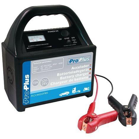 Chargeur de batterie 12V/24V 15Amp.