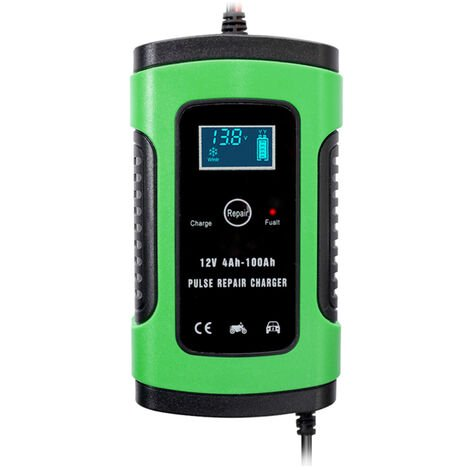 Chargeur de batterie 12V 6A chargeur de batterie de voiture de moto petit standard europeen