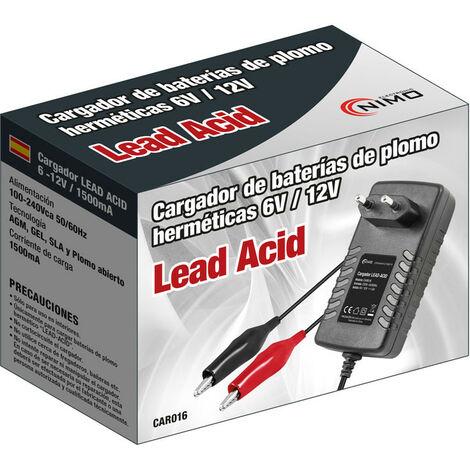 Chargeur de batterie au plomb 6-12v 1500ma automatique Car016