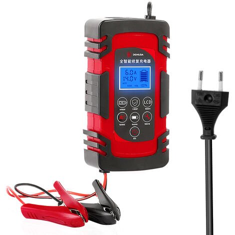 Chargeur de batterie Auto 12/24 V batterie au plomb intelligent outil de reparation de chariot elevateur de moto 110-220 V large tension, norme europeenne