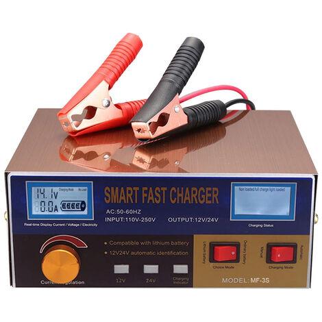 Chargeur De Batterie Automatique Intelligent 12V / 24V Chargeur De Batterie Regenerateur Reparation D'Impulsions Avec Affichage Numerique