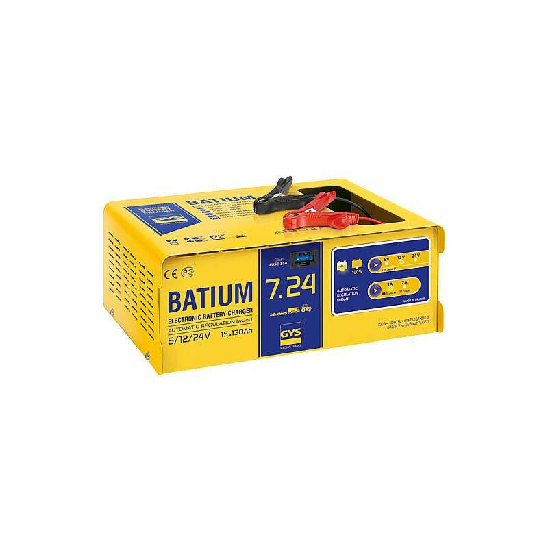 GYS - chargeur de batterie Batium 7-24 automatique - 230v/50Hz pour batteries 6-12-24V