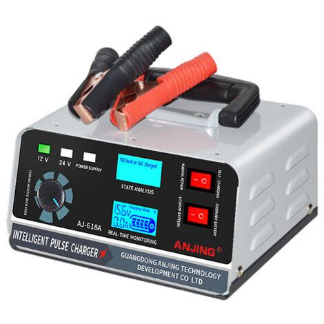 Chargeur de batterie de voiture Chargeur d'impulsions en cuivre pur haute puissance Chargeur de reparation de batterie 110V-250V (tension large) Norme europeenne