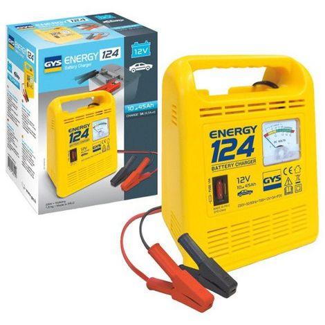 Chargeur de batterie GYS Energy 124 12V 3ah pour batterie de 10 à 45ah 023215