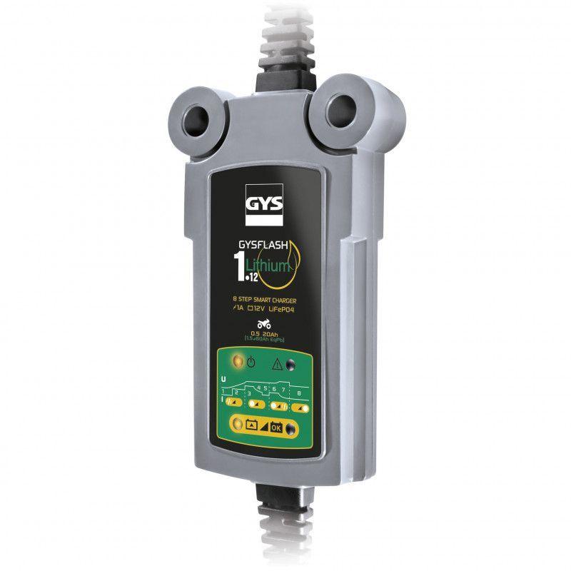 Chargeur de batterie GYSFLASH Lithium 6.12 pour batterie 12V de 1.2 à 125ah 029729