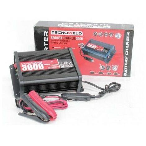 Chargeur de batterie MOTO/AUTO 12V AWELCO Batteries jusqu'à 140 Ah AUTOMATIC Smartcharge 3000 TECNOWELD