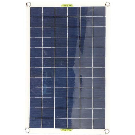 Chargeur de batterie solaire de yacht de voiture de panneau solaire de 50W double USB