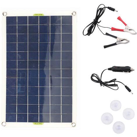 Chargeur De Batterie Solaire Usb Double Sortie Avec Controleur Pour Panneau Solaire En Silicium Monocristallin 50W 12V/5V