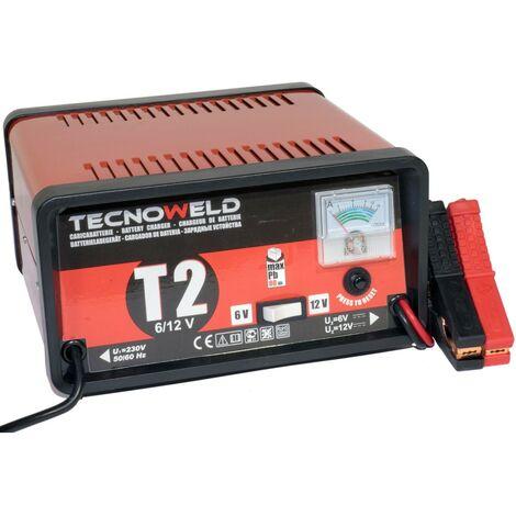 Chargeur de batterie TEC 2- 6/12V - Chargeur batterie voiture jusqu'à 80 Ah-Protection thermique et inversion de polarité