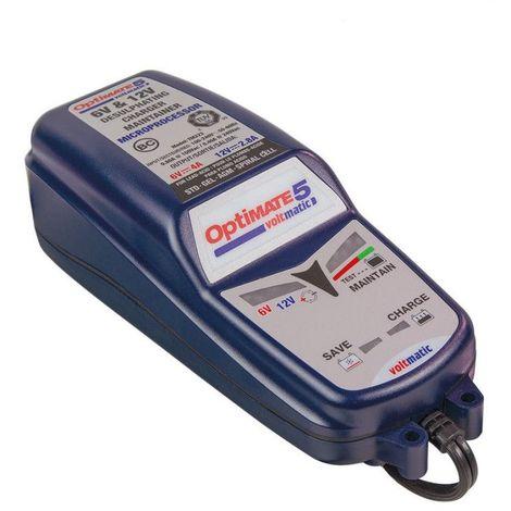 Chargeur de batterie TECMATE Optimate 5 VOLTMATIC 6V et 12V 2.8A TM-222