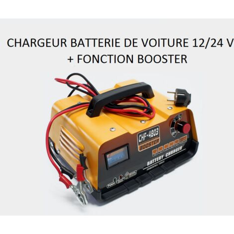 chargeur de batterie voiture 12v 24 volts avec fonction booster wc. Black Bedroom Furniture Sets. Home Design Ideas