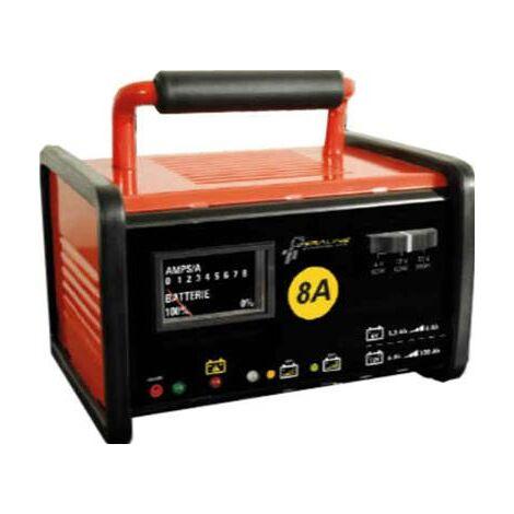 Chargeur de batterie voiture 6 / 12V 8A PRO coque metal voiture moto fourgon