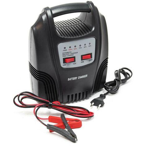 Chargeur de batterie voiture / Camion 12v / 24v - 10ah à 80ah