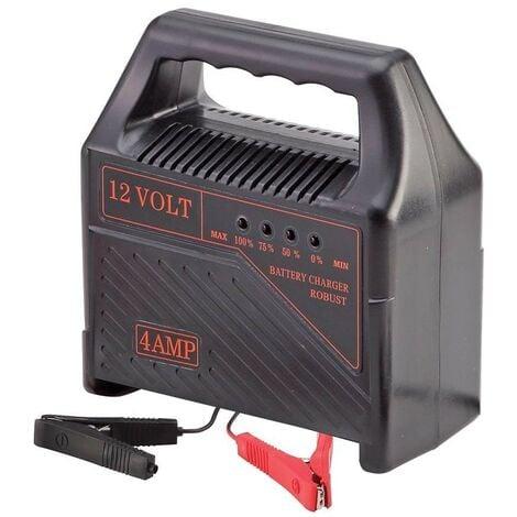 Chargeur de batterie voiture portable 12V 4 amp