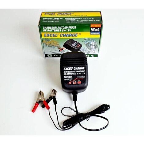 Chargeur de batterie xl600 EXCEL - 6v/12v - 600 ma