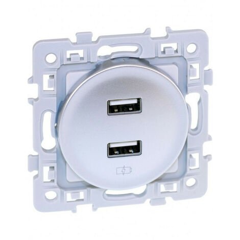 Chargeur double USB 5V Silver Square (60429)