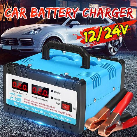 Chargeur intelligent de chargeur de batterie de voiture électrique 12 V / 24 V avec affichage numérique pour batterie de moto de cellule automatique de voiture