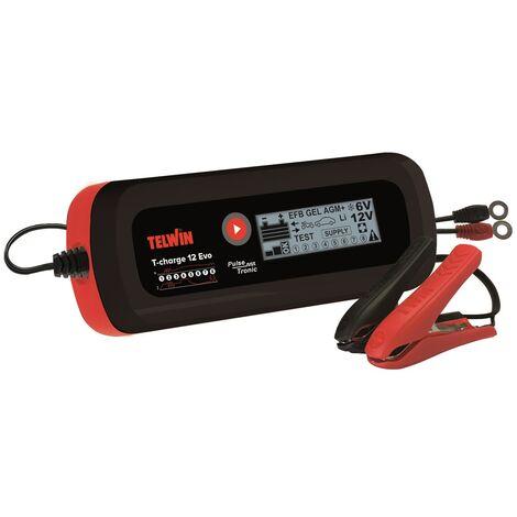 Chargeur, maintenance de charge, testeur batterie et alternateur 6/12V T CHARGE 12 EVO