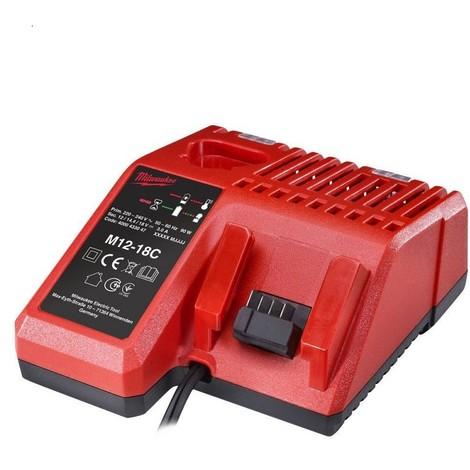 "main image of ""Chargeur multi-voltage MILWAUKEE 12V - 14.4V - 18V RED LITHIUM - 4932352959"""
