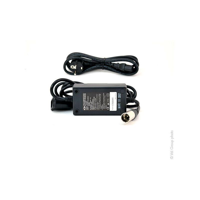MK Powered - MK Powered - Chargeur plomb MK LS24/2 24V/2A 110-230V (Intelligent) - Connecteur XLR standard