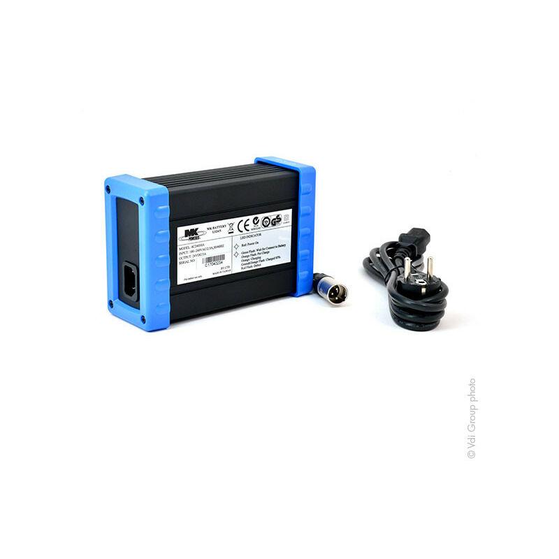 MK Powered - MK Powered - Chargeur plomb MK LS24/5 24V/5A 110-230V (Intelligent), - Connecteur XLR standard