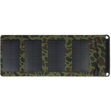 Chargeur Portable Usb Chargeur Panneau Solaire 7W 5V