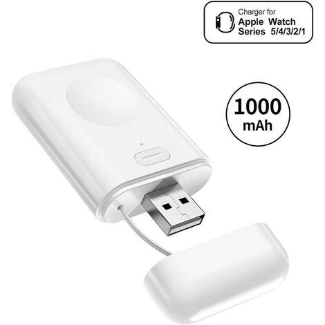 Chargeur pour Apple Watch 5, Chargeur Magnétique USB Banque de Puissance 1000mAh intégrée Recharge sans Fil pour Toutes Apple Watch séries 5/4/3/2/1, Apple Watch Nike+, Hermes, Edition