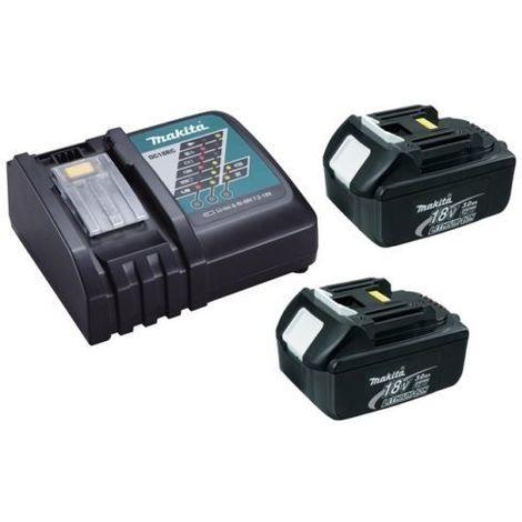Chargeur rapide Makita DC18RC + 2 batteries 18v BL1830B 3Ah Li-ion LXT