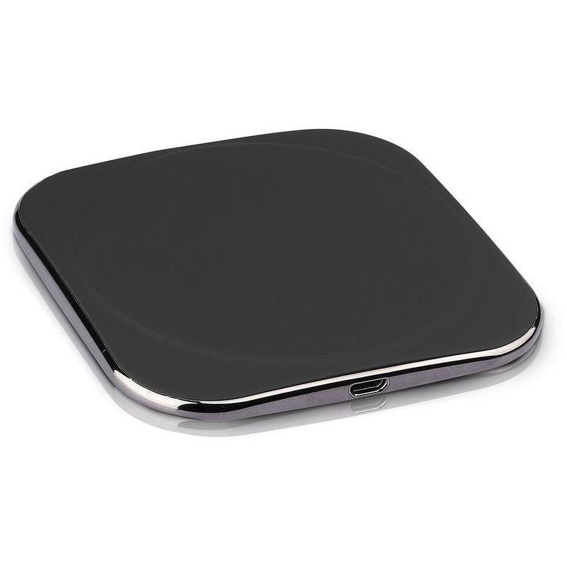 Chargeur rapide Qi sans fil V-tac VT-3525 - Chargeur - noir - Téléphone Mobile - Station de charge - Convient à Apple & à Samsung