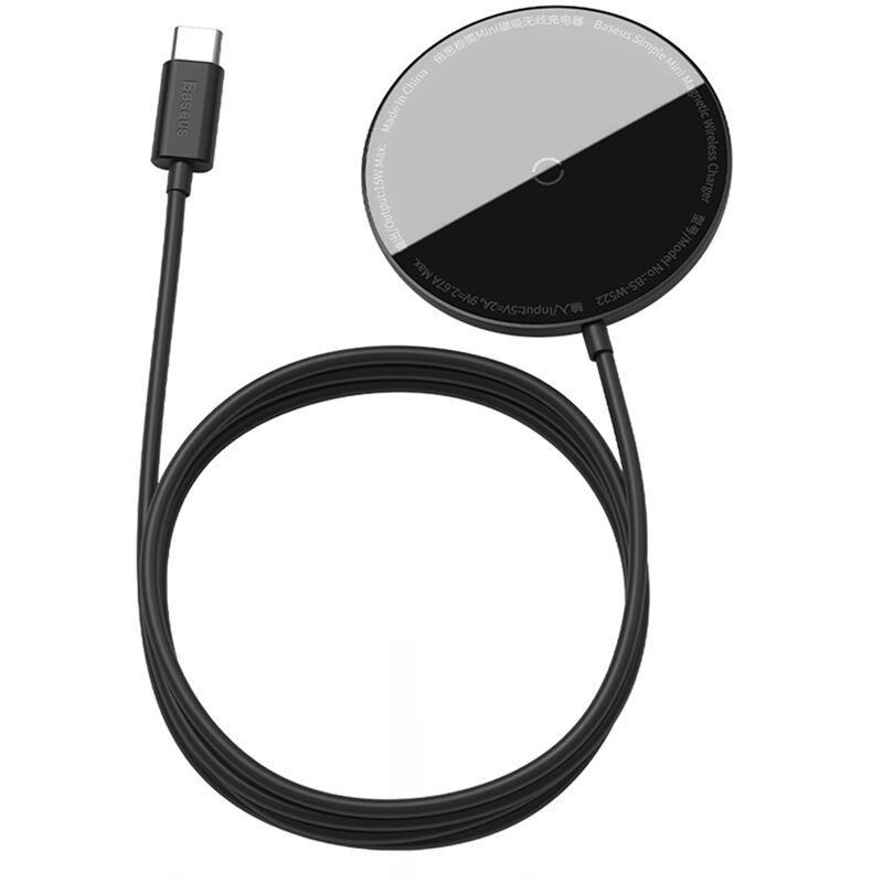 Chargeur Sans Fil Magnetique Baseus 15W Max Chargeur Sans Fil Rapide Compatible Avec Iphone 12/12 Mini / 12 Pro Max, Noir
