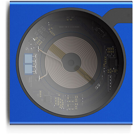 Chargeur Sans Fil Pad Charge Rapide Telephone Sans Fil Chargeur 10W Max Qi Chargeur Rapide Pour Iphone Samsung Huawei, Bleu
