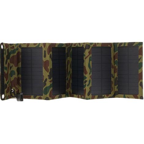 Chargeur Solaire 10W / 5V Avec Panneau Solaire Pliable Pour Port Usb 5