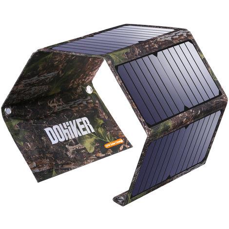 Chargeur solaire Dohiker 27W avec 3 ports USB Panneau solaire portable et résistant aux éclaboussures pour divers appareils