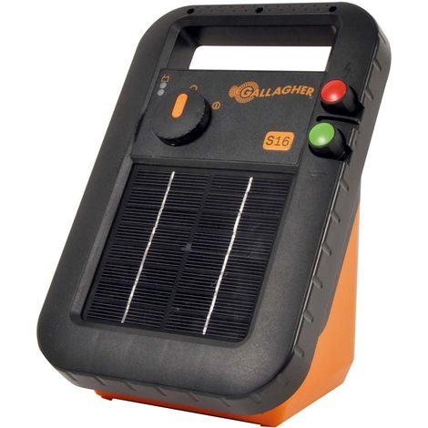Chargeur solaire S16 avec batterie professionnelle incluse pour petites clôtures jusqu'à 500 m pour chevaux, bovins, chèvres et moutons