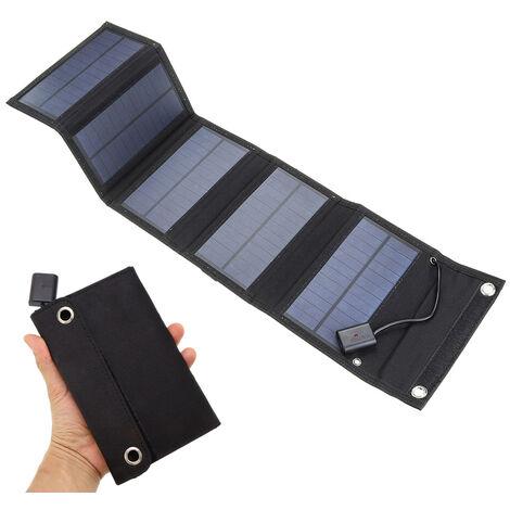 Chargeur Solaire Usb 5V 10W, Chargeur De Batterie Solaire Etanche, Avec 5 Panneaux Solaires